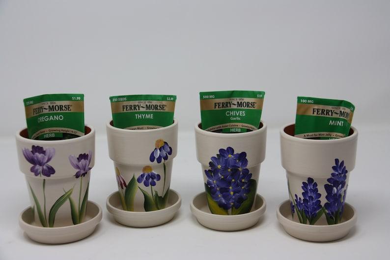 Etsy & Herb Garden Flower Pot Set Garden Lover Gift Chef gift Mother\u0027s Day gift