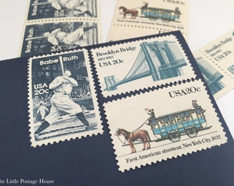 New York | Vintage Stamps | Unused Postage Stamps | For 5 Letters | 60 Cents