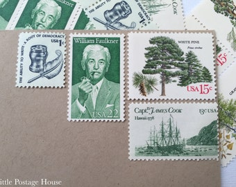 Pipe in Green | Vintage Unused Postage Stamps | For 5 Letters | 51 Cents