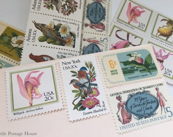 Spring Time - Unused Vintage Postage Stamps - For 5 Letters, 51 Cents each