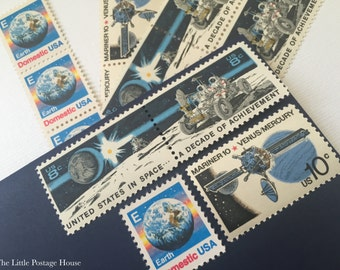 Space | Unused Postage Stamps | Vintage Stamps | For 5 Letters | 51 Cents