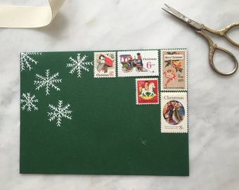 Christmas Magic | Vintage Stamps | Unused Postage Stamps | For 5 Letters | 52 Cents