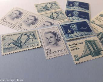 Mayan Blue | Vintage Stamps | Unused Postage Stamps | For 5 Letters | 73 Cents