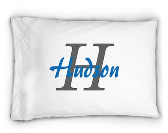 monogrammed pillow case boys pillowcase boys custom pillowcase gift for him personalized gift pillow case toddler pillowcase - Toddler Pillow Case