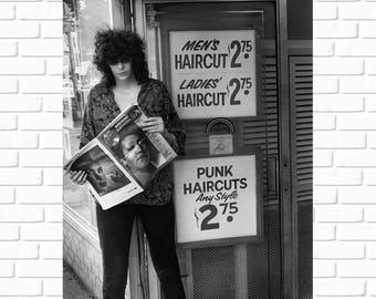 Joey Ramone - Punk Haircuts - Photo - The Ramones - Ramones - Punk Rock - Rock n Roll - NYC - CBGB - East Village - Man Cave - Wall Art