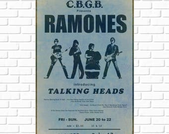 Ramones - CBGB - Promo - 1975 - Photo - Talking Heads - Blondie - Bowery - East Village - Manhattan - Punk Rock - Photograph - Wall Art