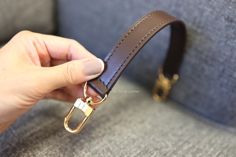 Mcraft 12 20mm brown leather handle strap made to match Louis image 0