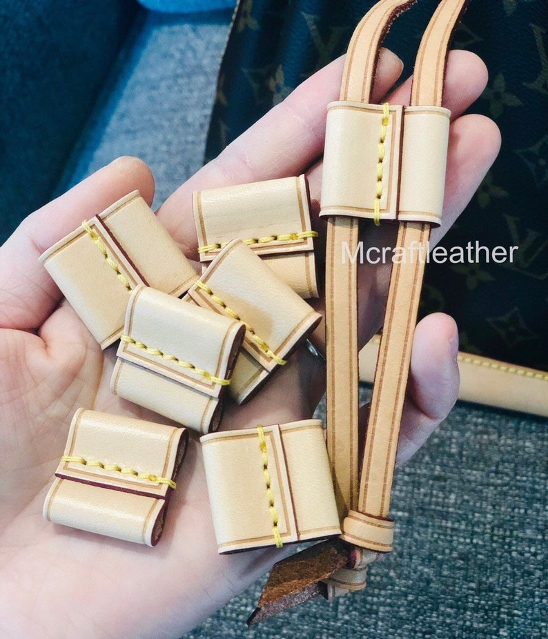 Mcraft Handmade Vachetta Leather string slide  string keeper Reguler ( NO Stamp)