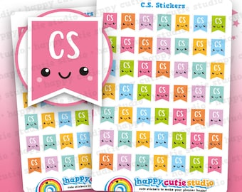 49 Cute C.S. Flags/Child Support/Planner Stickers, Filofax, Happy Planner, Erin Condren, Kawaii, Cute Sticker, UK