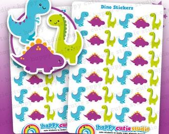36 Cute Dinosaur/Dino/T-Rex Planner Stickers, Filofax, Erin Condren, Happy Planner,  Kawaii, Cute Sticker, UK