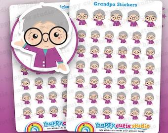 41 Cute Grandpa/Grandfather/Grandad Planner Stickers