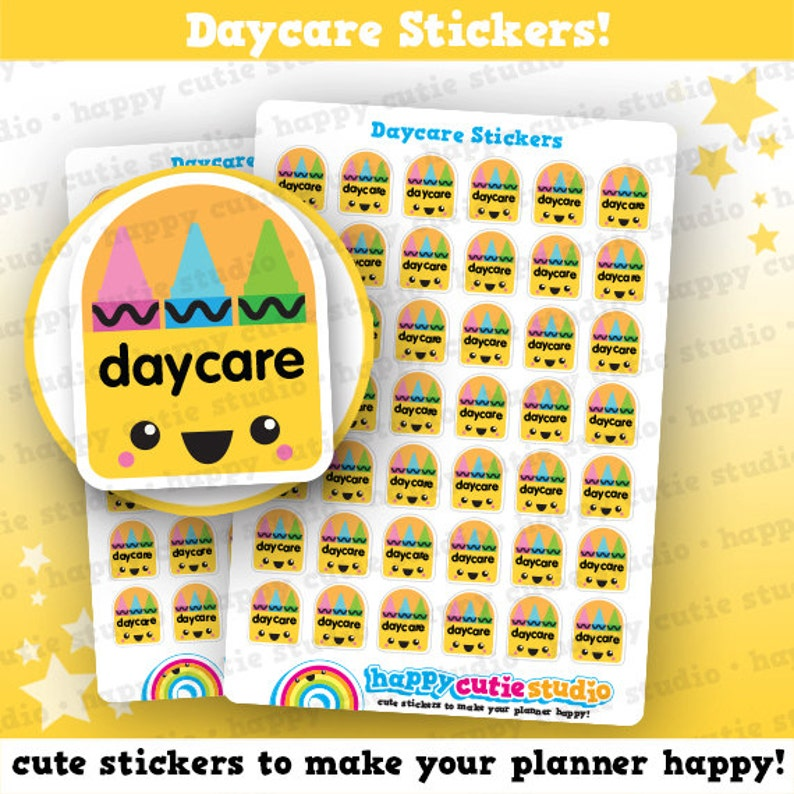 42 Cute Daycare Planner Stickers image 0