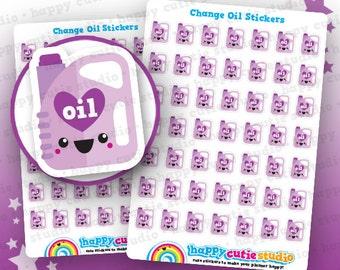 49 Cute Change Car Oil Reminder Planner Stickers, Filofax, Erin Condren, Happy Planner,  Kawaii, Cute Sticker, UK