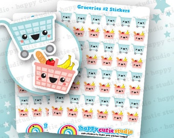 48 Cute Groceries 2/Shopping/Food Planner Stickers