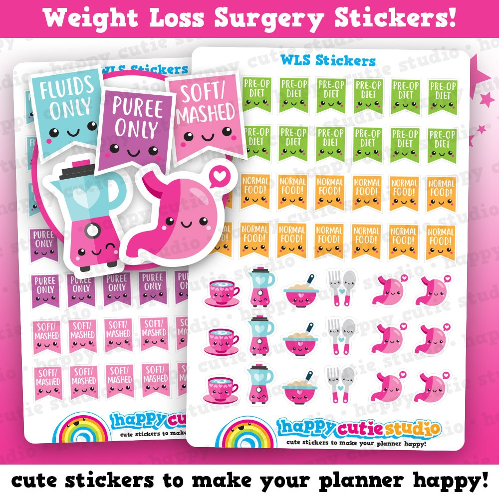 95 Cute Weight Loss Surgery Bariatric Gastric Stomach Planner Etsy