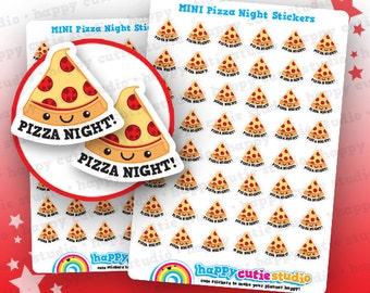 48 Cute MINI Pizza Night Planner Stickers, Filofax, Erin Condren, Happy Planner, Kawaii, Cute Sticker, UK