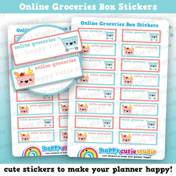 16 cute online groceries box tracker shopping food planner etsy