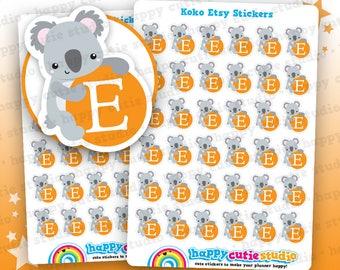 36 Cute Koko the Koala Etsy Planner Stickers, Filofax, Erin Condren, Happy Planner, Kawaii, Cute Sticker, UK