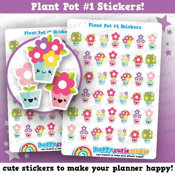 42 stickers mignon planificateur de pots de fleurs jardin des for Planificateur jardin