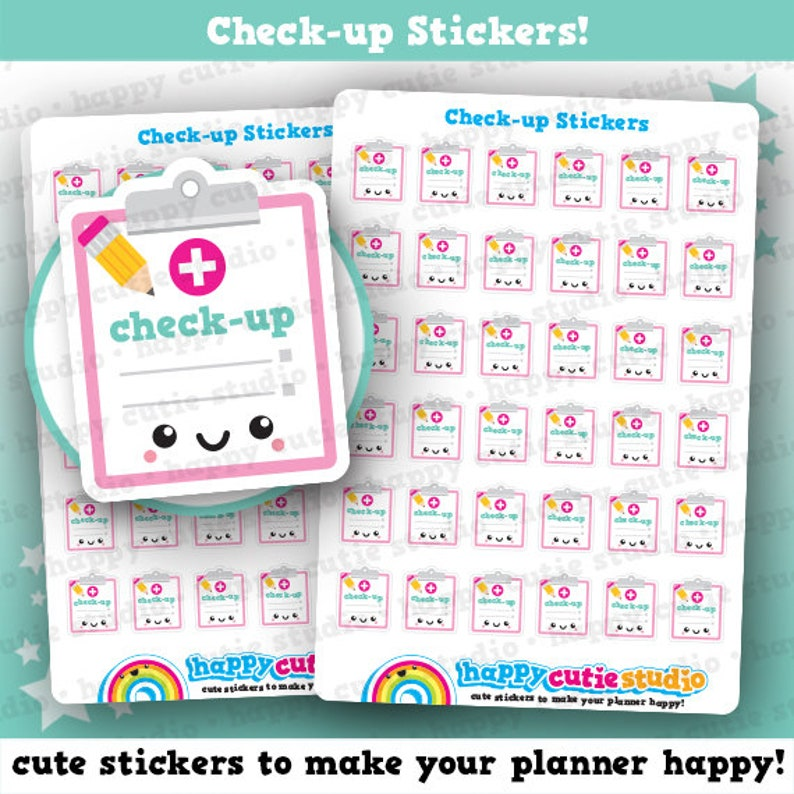 36 Cute Check-up/Hospital/Appointment Planner Stickers image 0