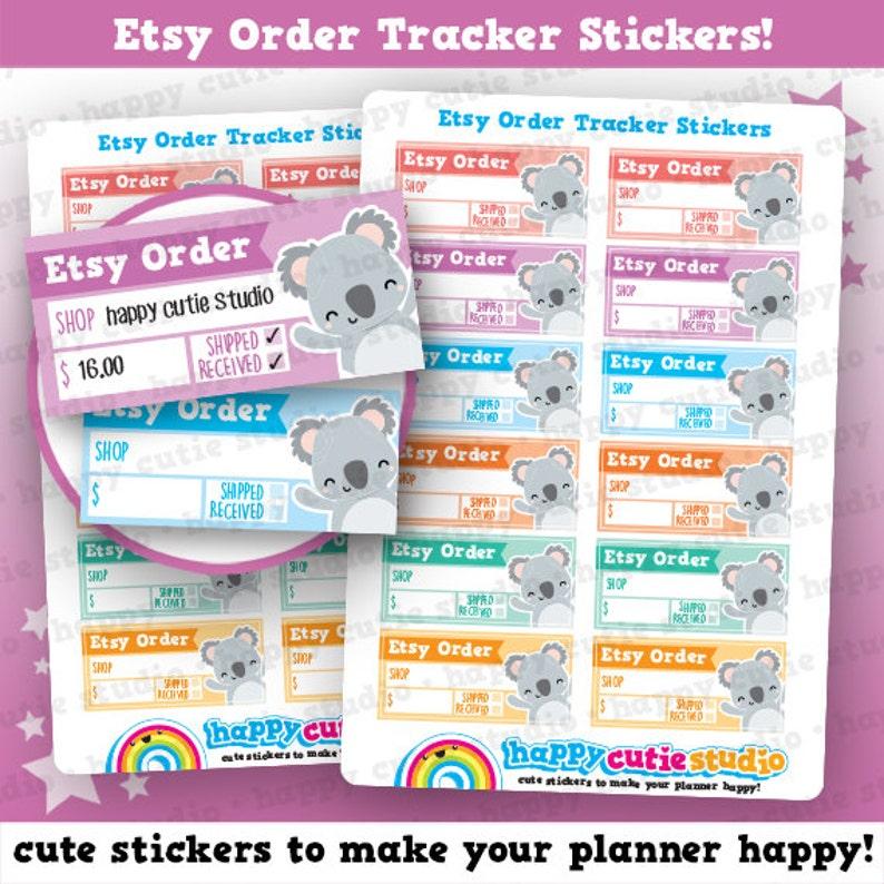 8ac3b07f419fb 12 Cute Etsy Order Tracker Planner Stickers, Filofax, Happy Planner, Erin  Condren, Kawaii, Cute Sticker, UK