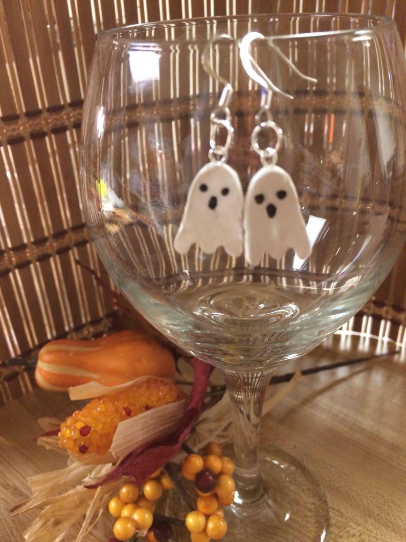 fall Halloween earrings Halloween jewelry spooky earrings ghosts Ghost earrings