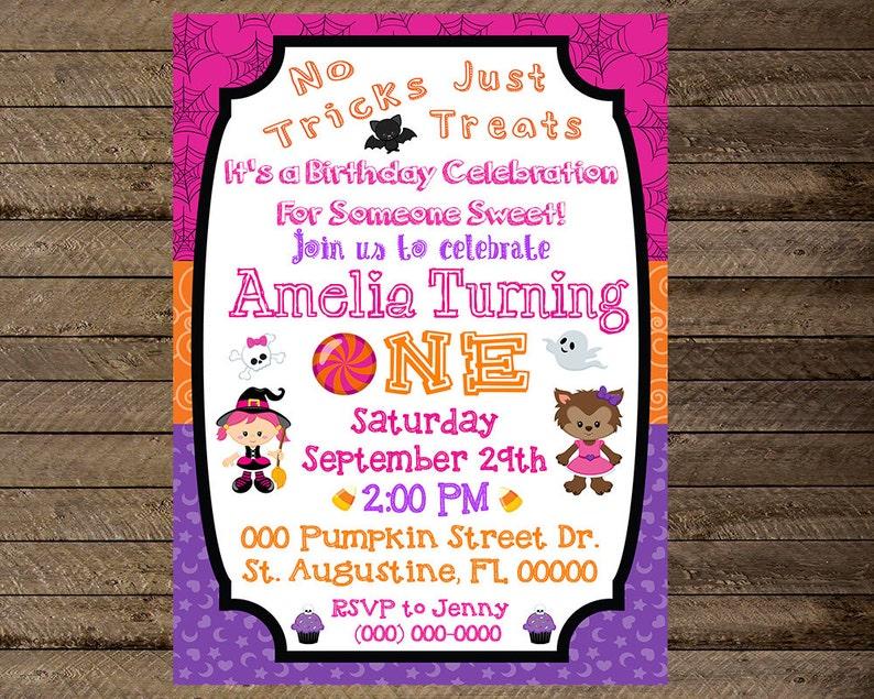 Halloween Invite Halloween Invitation Halloween Birthday