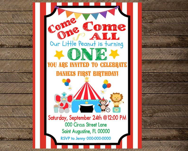 Circus Invite Invitation Circus Theme Party Circus Birthday Circus First Birthday Second Circus Birthday Theme Circus Party Print 2