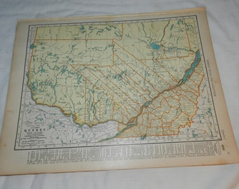 Colliers world atlas etsy vintage map of quebec ontario rand mcnally map from 1937 colliers world atlas and gumiabroncs Choice Image