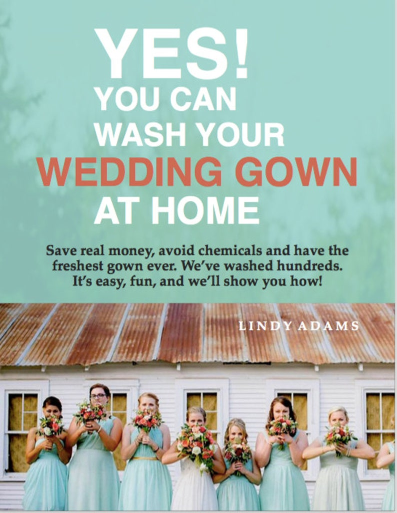 YES You Can Wash Your Wedding Gown at Home  40 PAGE Guide / image 0