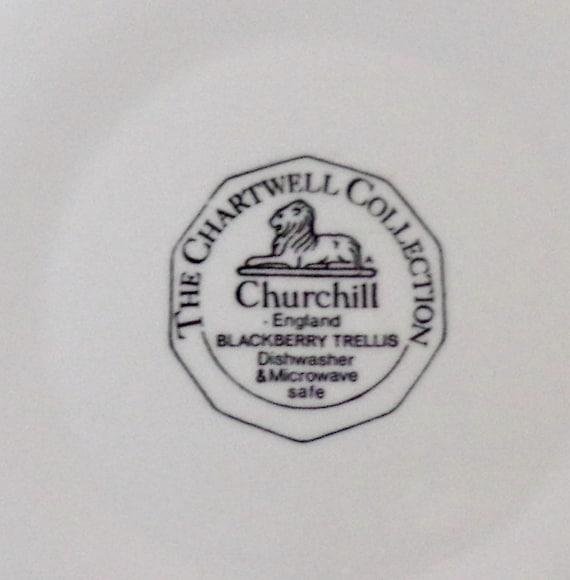 The Chartwell-Churchill Collection-Blackberry Trellis-piatti piatto