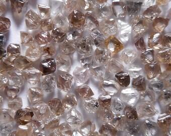1.00MM to 1.50MM - 35 per 1 Carat - Natural Uncut Rough Diamond Rohdiamant Brut Diamant - Brown Octahedron Loose