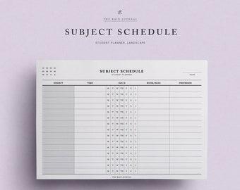 Study Schedule Etsy