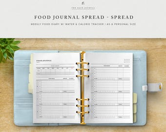 Weekly Food Journal Printable W Water Tracker