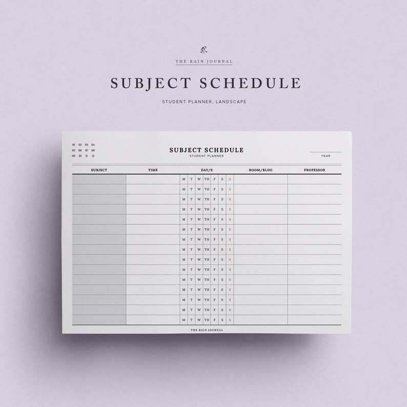 photo regarding Printable School Schedule identified as Make any difference Agenda Printable - Pupil Planner, College or university Program, Program Printable, University Planner Printable, Investigate Method, Clroom Plan
