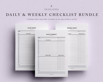 Daily Checklist, Weekly Checklist, Checklist Printable, Printable Planner, Home Planner, Home Checklist, Home To Do List, Chores Checklist