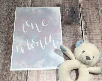 Neutral Baby monthly milestone cards - one month to one year a5