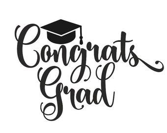 Congrats Grad svg, Grad SVG ,Graduation Cap SVG, Graduation Svg Cut file,Graduation SVG, Silhouette,2018 Graduation Svg,Graduation Hat svg