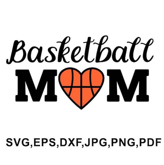 Basketball Mom Svg File Basketball Design Basketball Cameo Etsy