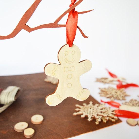 Lebkuchen Mann Dekoration Lebkuchen Ornament Aus Holz Ornament Etsy