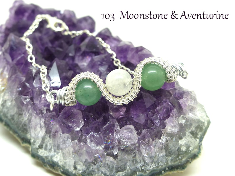 gift for mother gemstone jewelry gift for her fantasy jewelry wire wrapped jewelry elven jewlery wire bracelet Wire wrapped bracelet