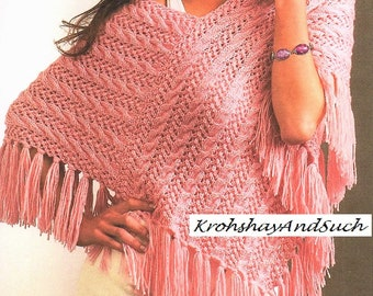 Cable knit poncho   Etsy