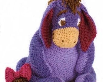Eeyore Soft Toy, Crochet Pattern. PDF Instant Download.