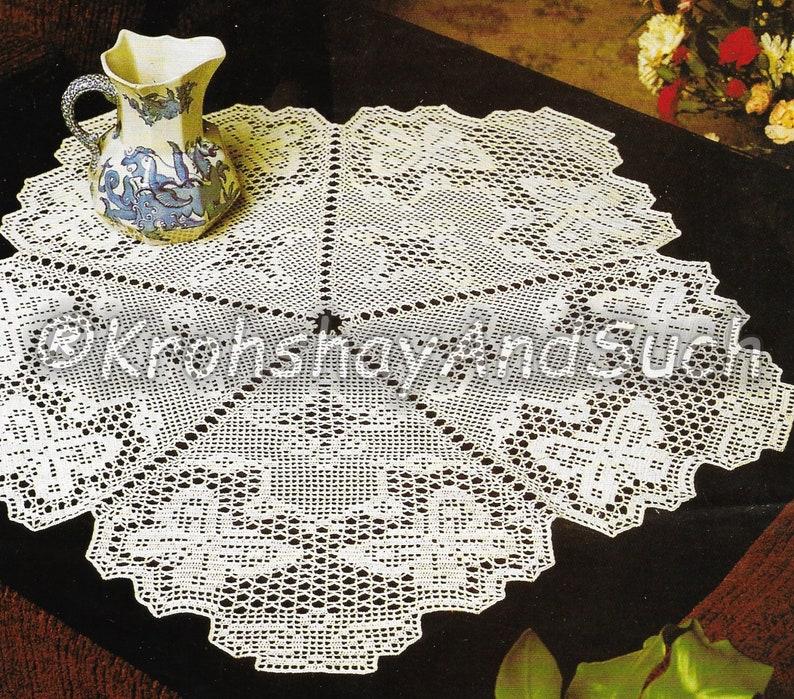 Butterfly Table Mat Filet Crochet Crochet Pattern Pdf Etsy