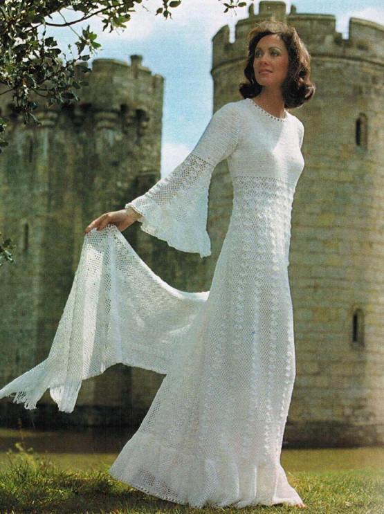 Crochet Wedding Gown / Dress And Shawl Crochet Pattern. PDF | Etsy