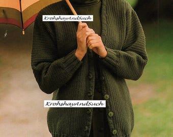 Long Line Cardigan, Plus Sizes, Crochet Pattern. PDF Instant Download.