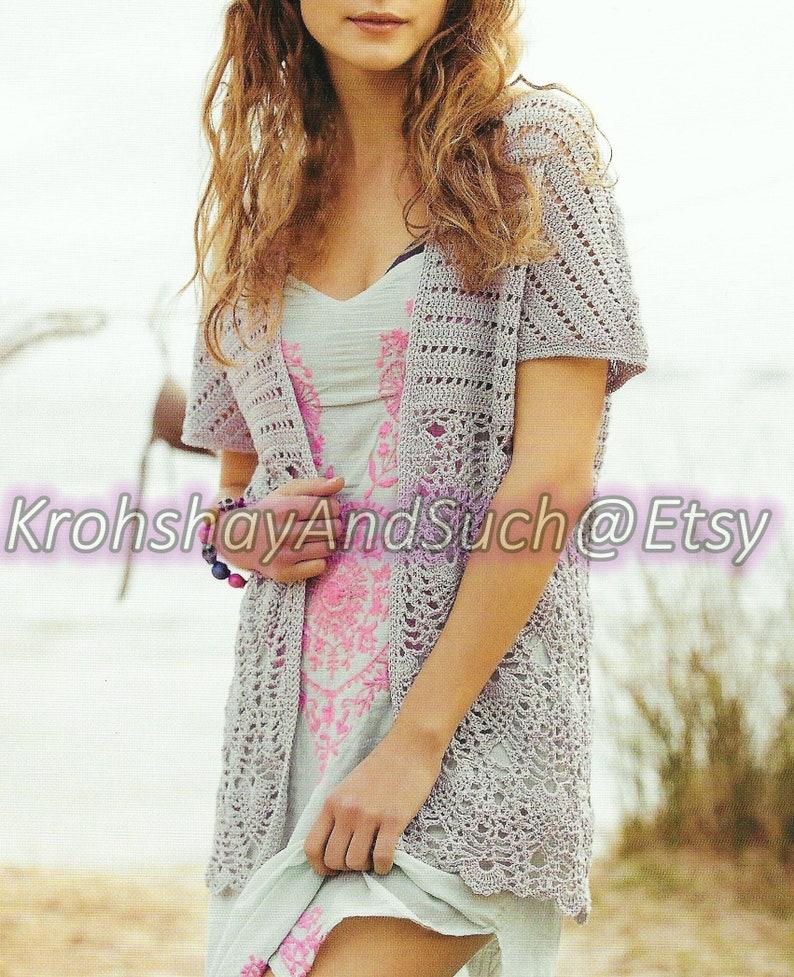 Boho Cardigan Plus Sizes Crochet Pattern Pdf Instant Etsy