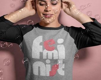 Feminist Shirt, Raglan Shirt, Baseball Shirt