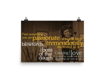 Julia Child Poster, Julia Child Quotes