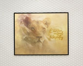 Lioness Art, Queen, Soul, Royalty, Lioness Print